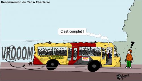te,charleroi,bus,grève,pavés,humour,odysseus