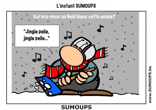 SUMOUPS, humour, bd, éditeur, sourire, jeux de mots, Noël, neige, Noël blanc