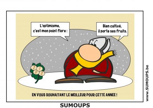 SUMOUPS, humour, bd, éditeur, sourire, jeux de mots, carte de voeux, 2012