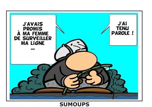 sumoups, sourire, humour, bd, jeux de mots, éditeurs, hebdomadaire, 2012, la pêche