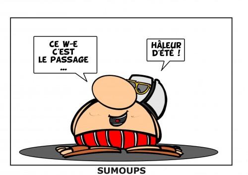 sumoups, sourire, humour, bd, jeux de mots, éditeurs, hebdomadaire, 2012, heure d'été, horloge, montre
