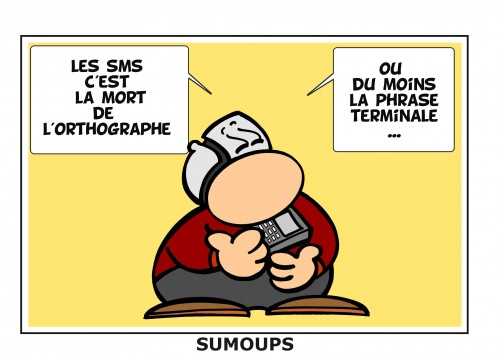 sumoups, sourire, humour, bd, jeux de mots, éditeurs, hebdomadaire, 2012, sms, gsm