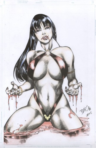 ed benes,vampirella,comics,pin up,vampire