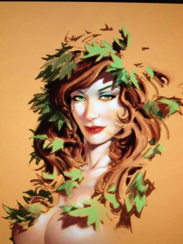 capullo,poison ivy,pin up,sexy,femme,comics