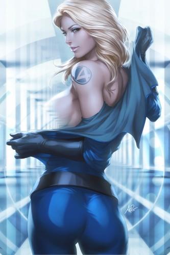 lau,pin up,femme,sexy,wonder woman,supergirl,jane richards,femme invisible,super héros,marvel,dc comics