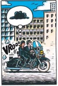 je veux une harley,cuadrado,margerin,dargaud,humour,moto,motards