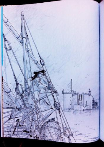 l'épervier,les escales d'un corsaire,pellerin,soleil,quadrants,marine,voile,brest,bretagne,versailles,xviiie,histoire