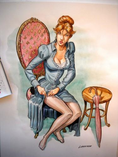 pin up,femme,sexy,lamontagne