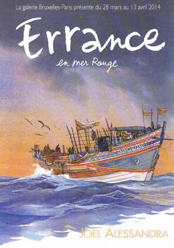 Errance en Mer Rouge, Alessandra, Galerie Bruxelles-Paris, Casterman, Exposition.