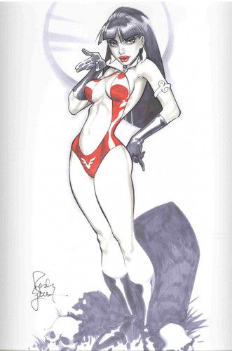pin up,sexy,femme,randy green,comics,marvel,heroine,vampirella