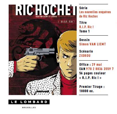 Ric Hochet, Tibet, Van Liemt, Zidrou, Le Lombard, 04/2015