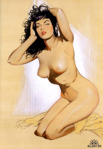 pin up,femme,sexy,Jim SILKE,The Rocketeer