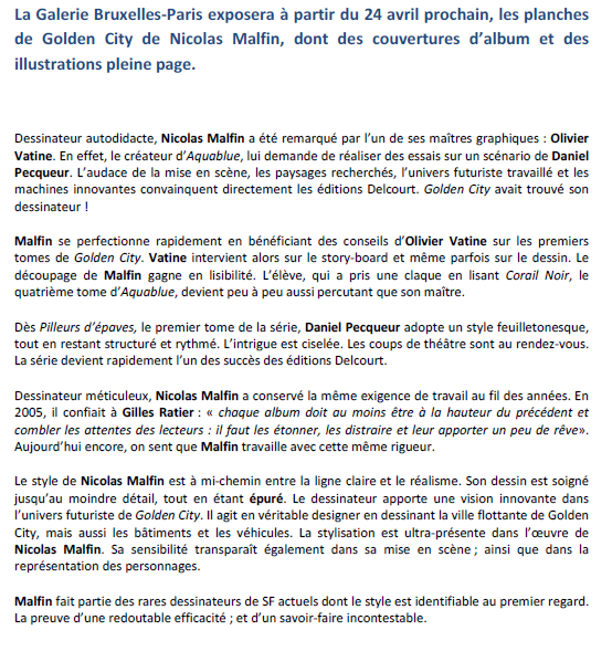 nicolas malfin,exposition,paris-bruxelles,golden city,bruxelles,042015