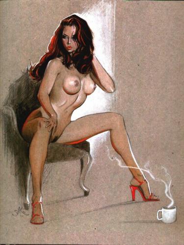 pin up,femme,sexy,Jim SILKE,The Rocketeer