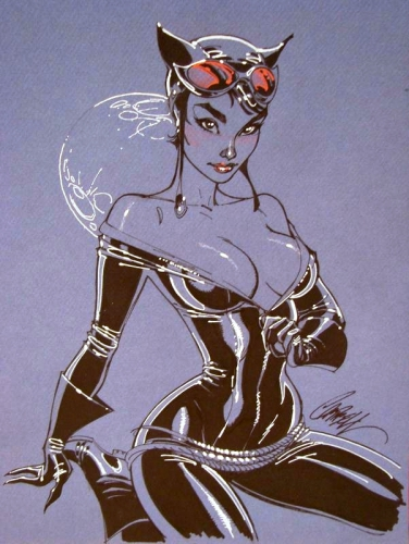 j. scott campbell,pin up,femme,sexy,comics,cat woman
