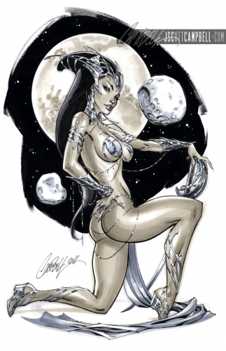 j. scott campbell,pin up,femme,sexy,comics,cat woman,Dejah Thoris