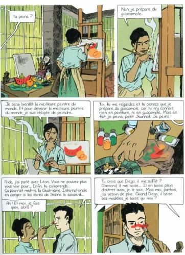 Frida Kahlo, Balthazar, Cornette,n Delcourt, 7/10, Histoire, biographie, kahlo, Trotski, rivera, peinture, 02/2015