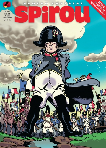 Spirou, journal, Waterloo,bataille, bicentenaire,Napoléon, numéro spécial, 06/2015