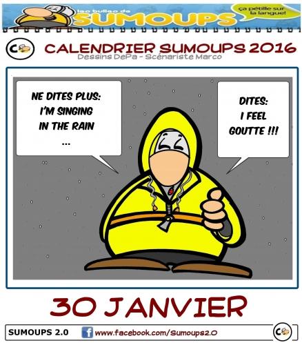 calendrier, calendrier sumoups, sumoups, bd, humour, 2016
