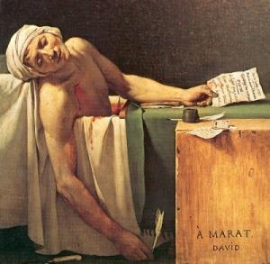 j'ai tué marat,le bollée,olivier martin,vents d'ouest,marat,charlotte corday,terreur,révolution,david,guillotine,cénobite