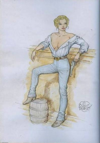 pin up,western,blanc-dumont