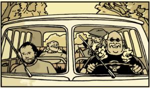 the long and winding road,christopher,pellejero,kennes editions,rock,rock'n roll,hippies,beat génération,combi volkswagen,seventies,70',île de wight,wight,concert,road movie,road trip,chronique sociale,roman graphique,102016,910