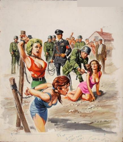pin up,pulp magazine,basil gogos,filles enchaînées,camps nazis