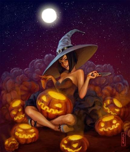 pin up,halloween,rafa teruel,joe pekar,loopydave,