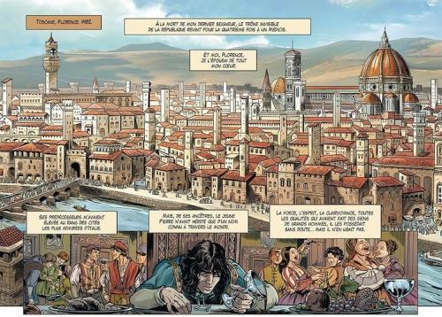 Medicis, Jules de l'or à la croix, Peru, Leoni, Negrin, Soleil, aventure, Histoire, Renaissance, intrigues