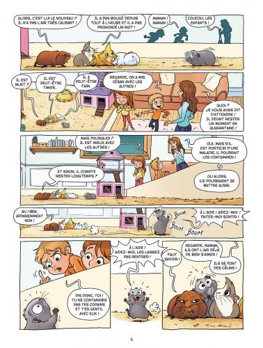 Les cochons dingues, Laurent Dufreney, Miss Prickly, Delcourt, humour, jeunesse, animaux, passion.