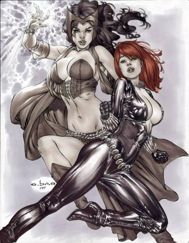 eric basaldua,pin-up in comics,super women