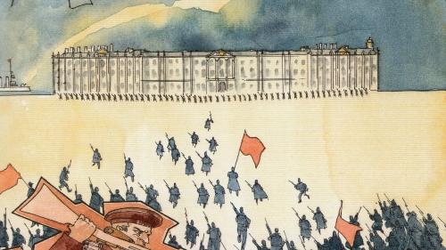 Octobre 17, Seuil Delcourt, Révolution Russe, Patrick Rotman, Benoît Blary, Trotski, Lénine, Staline, Bolchévique