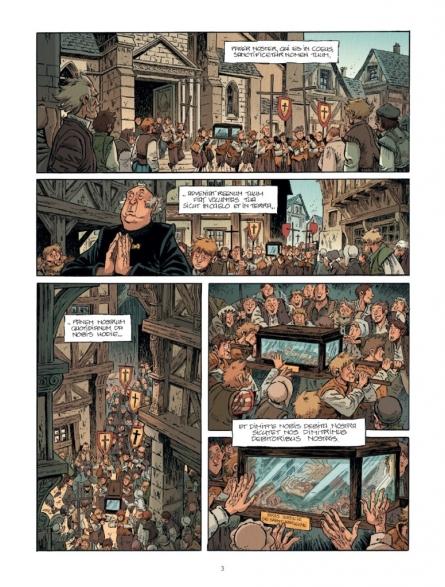 Le cimetière des innocents, Oriane et l'Ordre des morts, Grand Angle, Xavier Fourquemin, Philippe Charlot, Moyen-Âge, Religion, Obscurantisme
