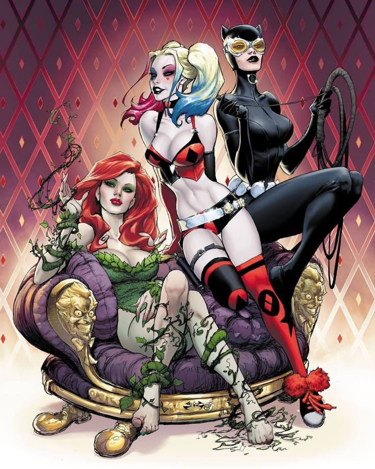 Harley_Quinn Gotham City Sirens Poison Ivy Catwoman joe benitez