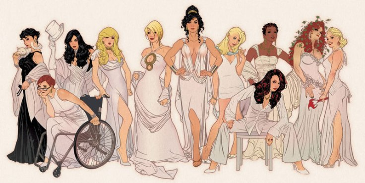 Ladies of DC by Adam Hughes Women Babes Catwoman Oracle Zatanna Black Canary Power Girl Wonder Woman Supergirl Vixen Batwoman Poison Ivy Harley Quinn