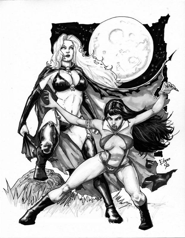 Lady Death_Vampirella-Edgar Salazar