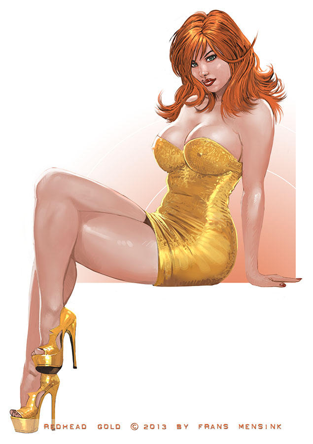 Redhead and gold