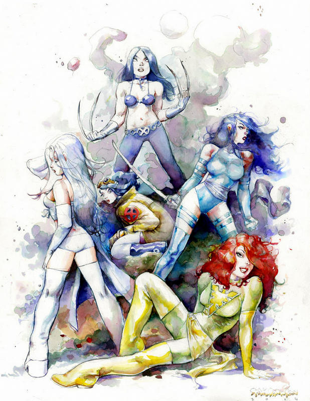 X-Men Women Watercolor