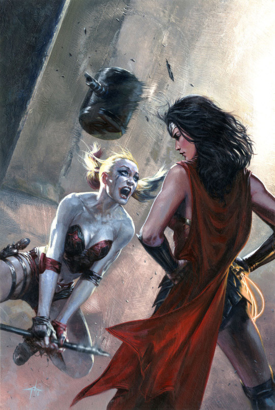 Harley Quinn and Wonder Woman by Gabriele Dell'Otto