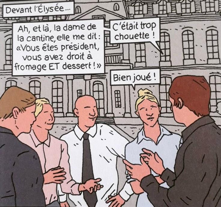 Le-nouveau-président-Yann-Rambaud-parodie-pouvoir-politique-emmanuel-macron-coll.-pataques-humour-cantine