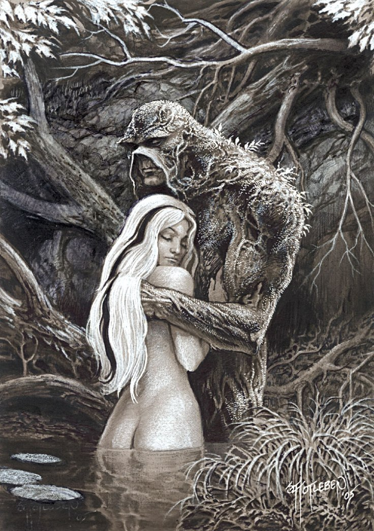 Swamp Thing and Abby by John Totleben