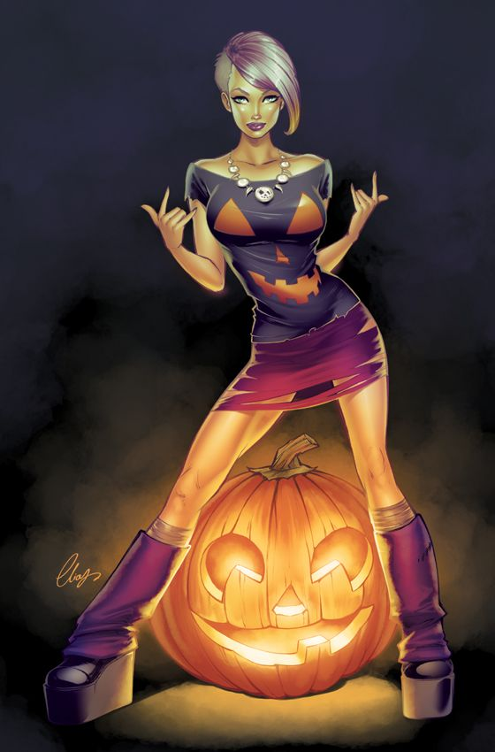 pin-up halloween