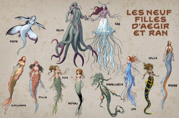 Sirenes et vikings_Le fleau des abysses_Humano_Les neuf filles daegir et ran