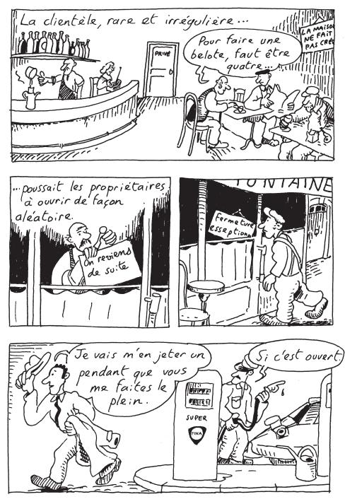 Les dessous de Saint-Saturnin_Le bistrot d emile_Bruno Heitz_gallimard bande dessinee_extrait2