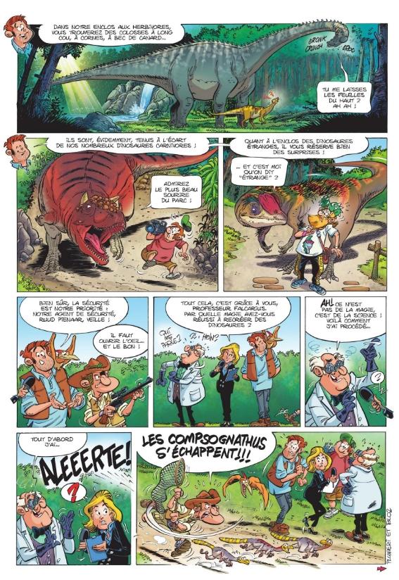 dino park_T01_Les dinosaures en bande dessinee_Plumeri_Bloz_Bamboo edition_extrait 2